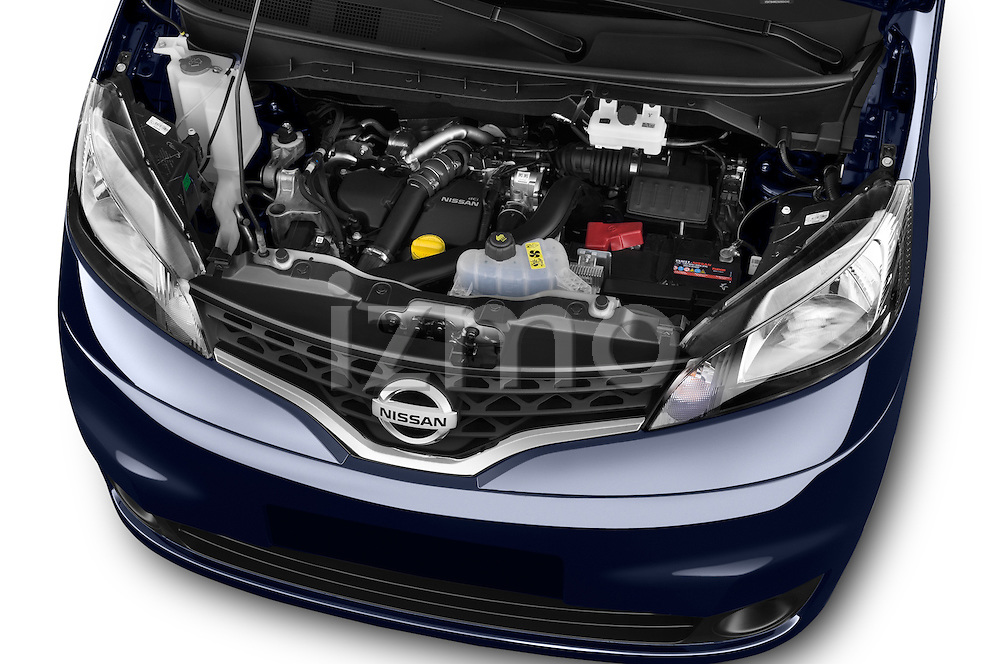 Car Stock 2014 Nissan Evalia Connect Edition 5 Door Mini MPV 2WD Engine high angle detail view