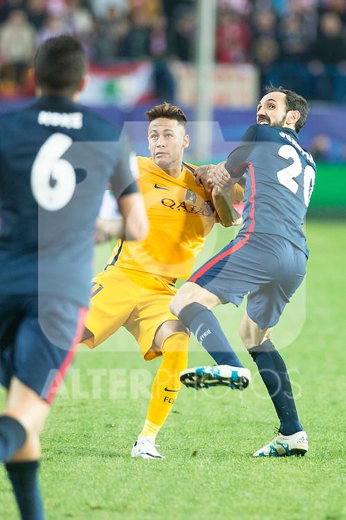Atletico de Madrid's Juanfran and FC Barcelona Neymar during Champions League 2015/2016 Quarter-Finals 2nd leg match. April 13, 2016. (ALTERPHOTOS/BorjaB.Hojas)