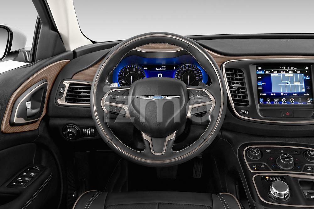 Car pictures of steering wheel view of a2015 Chrysler 200 C 4 Door Sedan Steering Wheel