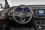 Car pictures of steering wheel view of a2015 Chrysler 200 C 4 Door Sedan Steering Wheel