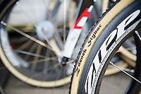 Personalised Dugast tubes for Zdenek Stybar (CZE)<br /> <br /> 2014 UCI cyclo-cross World Championships, Elite Men