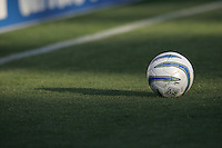 6 August 2005:  MLS Ball sits on the grass during the game between Earthquakes/Crew at Spartan Stadium in San Jose, California.   Earthquakes defeated Crew, 2-1.   Credit: Michael Pimentel / ISI