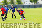 Johnny Neilings of St Brendans Park on the ball against Dingle Bay Rovers in the U13 Division 1 soccer league.