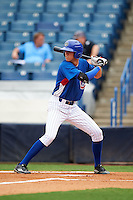 Nolan Jones (22) of Holy Ghost Prep in Langhorne, Pennsylvania playing for the Chicago Cubs scout team during the East Coast Pro Showcase on July 28, 2015 at George M. Steinbrenner Field in Tampa, Florida.  (Mike Janes/Four Seam Images)