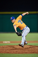 St. Lucie Mets relief pitcher Stephen Villines (32) delivers a pitch during a game against the Clearwater Threshers on August 11, 2018 at Spectrum Field in Clearwater, Florida.  St. Lucie defeated Clearwater 11-0.  (Mike Janes/Four Seam Images)