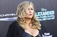HOLLYWOOD, LOS ANGELES, CA, USA - OCTOBER 06: Jennifer Coolidge arrives at the World Premiere Of Disney's 'Alexander And The Terrible, Horrible, No Good, Very Bad Day' held at the El Capitan Theatre on October 6, 2014 in Hollywood, Los Angeles, California, United States. (Photo by Xavier Collin/Celebrity Monitor)