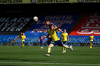 5th September 2020; Selhurst Park, London, England; Pre Season Friendly Football, Crystal Palace versus Brondby; Joel Ward of Crystal Palace heads the ball out away Simon Hedlund of Brondby