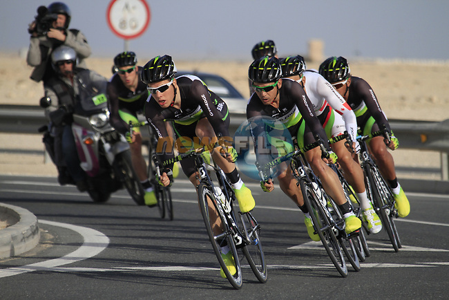 GreenEdge Cycling Team in action during the 2nd Stage of the 2012 Tour of Qatar an 11.3km team time trial at Lusail Circuit, Doha, Qatar. 6th February 2012.<br /> (Photo Eoin Clarke/Newsfile)