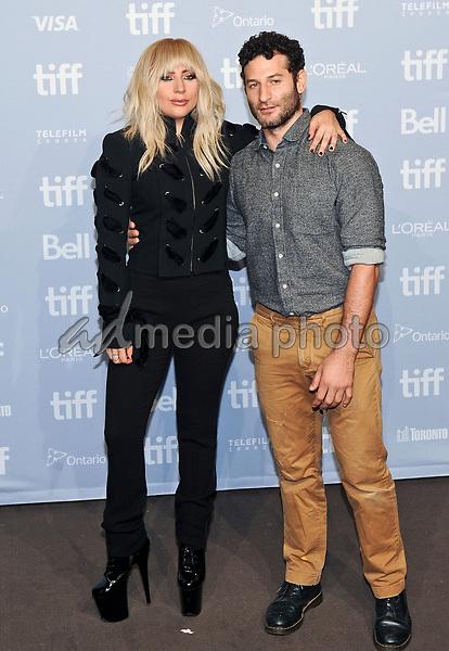 "08 September 2017 - Toronto, Ontario Canada - Lady Gaga, Chris Moukarbel. 2017 Toronto International Film Festival - ""Lady Gaga: Five Foot Two"" Press Conference held at TIFF Bell Lightbox. Photo Credit: Brent Perniac/AdMedia"