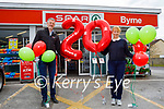 Louis Byrne and Collette O'Sullivan stand outside Byrne Spar Oakpark, as they celebrate 20 years in business at the shop on Friday.