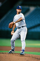 Jeff Suppan of the Kansas City Royals during a game against the Anaheim Angels at Angel Stadium circa 1999 in Anaheim, California. (Larry Goren/Four Seam Images)