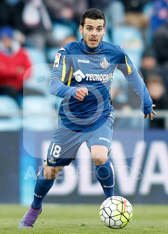 Getafe's Victor Rodriguez during La Liga match. February 27,2016. (ALTERPHOTOS/Acero)