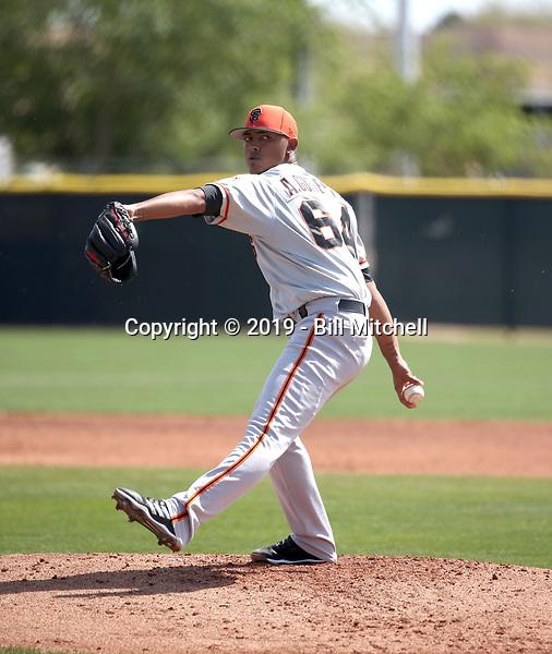 Alfred Gutierrez - San Francisco Giants 2019 spring training (Bill Mitchell)