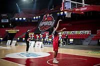 team presentation inside the Spirou Basketbal Dome in Charleroi<br /> <br /> 85th La Flèche Wallonne 2021 (1.UWT)<br /> 1 day race from Charleroi to the Mur de Huy (BEL): 194km<br /> <br /> ©kramon