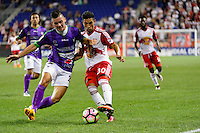 Harrison, NJ - Wednesday Aug. 03, 2016: Fabian Castillo, Gonzalo Veron during a CONCACAF Champions League match between the New York Red Bulls and Antigua at Red Bull Arena.