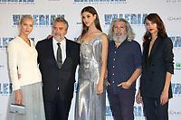SASHA LUSS, LUC BESSON, PAULINE HOAREAU, ALAIN CHABAT, AYMELINE VALADE - AVANT-PREMIERE DU FILM 'VALERIAN ET LA CITE DES MILLES PLANETES' A LA CITE DU CINEMA, SAINT-DENIS, FRANCE, LE 25/07/2017.