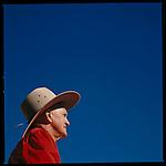 A horse judge atop his horse during the Rockhampton annual 4-H Festival, Australia.