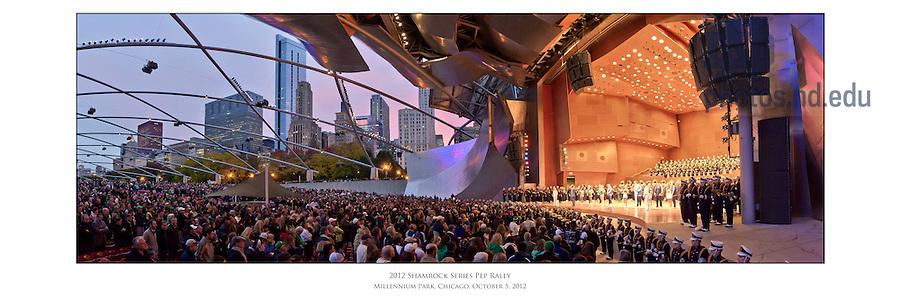 Oct. 5, 2012; Shamrock Series pep rally, Millennium Park, Chicago...Photo by Matt Cashore/University of Notre Dame