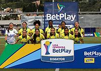 GUARNE - COLOMBIA, 16-10-2020: Atletico Nacional y Atletico Bucaramanga, durante partido por la fecha 1 de la Liga Femenina BetPlay DIMAYOR 2020 jugado en el estadio Municipal Bernardo Nando Alvarez en la ciudad de Guarne. / Atletico Nacional and Atletico Bucaramanga, during a match for the 1st date of the Women's League BetPlay DIMAYOR 2020 played at the Municipal Bernardo Nando Alvarez stadium in Guarne city. / Photo: VizzorImage / Donaldo Zuluaga / Cont.