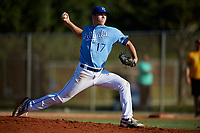 Will Stevens during the WWBA World Championship at the Roger Dean Complex on October 21, 2018 in Jupiter, Florida.  Will Stevens is a right handed pitcher from Kansas City, Missouri who attends Park Hill High School and is committed to Wichita State.  (Mike Janes/Four Seam Images)