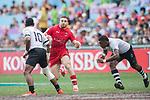 Fiji vs Canada during their Quarter-finals match as part of the HSBC Hong Kong Rugby Sevens 2017 on 09 April 2017 in Hong Kong Stadium, Hong Kong, China. Photo by Marcio Rodrigo Machado / Power Sport Images
