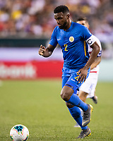 PHILADELPHIA, PA - JUNE 30: Cuco Martina #2 during a game between Curaçao and USMNT at Lincoln Financial Field on June 30, 2019 in Philadelphia, Pennsylvania.