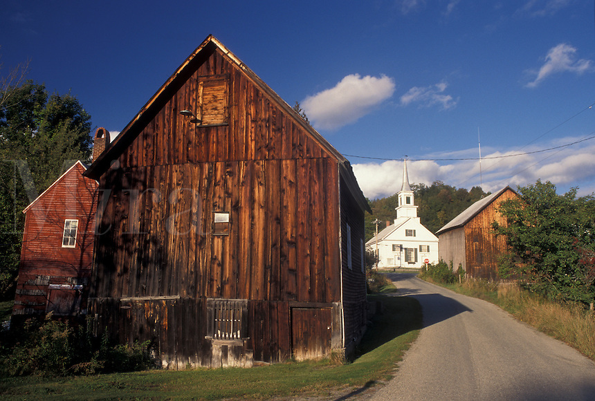 AJ4570, village, Waits River, Vermont, Scenic village of Waits River in Orange County in the state of Vermont.
