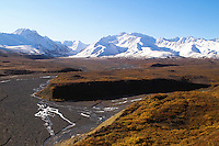The Toklat River at Denali National Park.