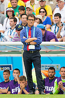 Russia manager Fabio Capello looks dejected