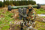 Gunner Eddie O'Driscoll which is manning a Ground to Arm Missile for anti aircraft at the Irish Defence Forces manoeuvres in Tralee