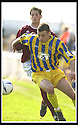 12/04/2003                   Copright Pic : James Stewart.File Name : stewart-arbroath v qots 10.DEREK ALLAN HOLDS OFF ARBROATH'S GAVIN SWANKIE....James Stewart Photo Agency, 19 Carronlea Drive, Falkirk. FK2 8DN      Vat Reg No. 607 6932 25.Office     : +44 (0)1324 570906     .Mobile  : +44 (0)7721 416997.Fax         :  +44 (0)1324 570906.E-mail  :  jim@jspa.co.uk.If you require further information then contact Jim Stewart on any of the numbers above.........
