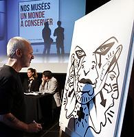 L'artiste peintre multidisciplinaire Zilon<br /> , Sept 27, 2015.<br /> <br /> PHOTO :  Agence Quebec Presse