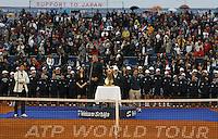 Tenis, Serbia Open 2011.Final.Novak Djokovic (SRB) Vs. Feliciano Lopez (ESP).Goran Djokovic, during  ceremony .Beograd, 01.05.2011..foto: Srdjan Stevanovic