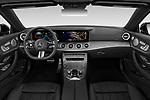 Stock photo of straight dashboard view of 2021 Mercedes Benz E-Class-Cabriolet E450 2 Door Convertible Dashboard