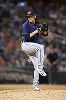 Detroit Tigers relief pitcher Daniel Stumpf (41) in action during a rehab assignment against the Charlotte Knights at BB&T BallPark on June 22, 2018 in Charlotte, North Carolina. The Mud Hens defeated the Knights 4-0.  (Brian Westerholt/Four Seam Images)