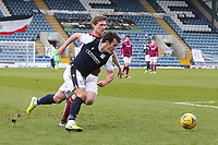 13th March 2021; Dens Park, Dundee, Scotland; Scottish Championship Football, Dundee FC versus Arbroath; Danny Mullen of Dundee goes past Colin Hamilton of Arbroath