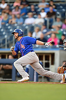 Midland RockHounds outfielder Kent Matthes (32) at bat during a game against the Tulsa Drillers on May 30, 2014 at ONEOK Field in Tulsa, Oklahoma.  Tulsa defeated Midland 7-1.  (Mike Janes/Four Seam Images)