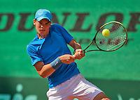 Netherlands, Rotterdam August 08, 2015, Tennis,  National Junior Championships, NJK, TV Victoria, Ryan Nijboer<br /> Photo: Tennisimages/Henk Koster