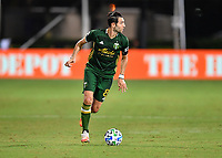 LAKE BUENA VISTA, FL - JULY 18: Diego Valeri #8 of the Portland Timbers looks upfield as he carries the ball during a game between Houston Dynamo and Portland Timbers at ESPN Wide World of Sports on July 18, 2020 in Lake Buena Vista, Florida.
