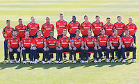 Essex CCC players pose for a team photograph in their Yorkshire Bank 40 Over Kit - Essex County Cricket Club Press Day at the Essex County Ground, Chelmsford, Essex - 02/04/13 - MANDATORY CREDIT: Gavin Ellis/TGSPHOTO - Self billing applies where appropriate - 0845 094 6026 - contact@tgsphoto.co.uk - NO UNPAID USE.