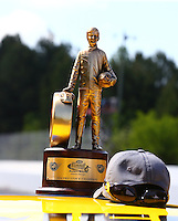 May 19, 2014; Commerce, GA, USA; Detailed view of the Wally trophy won by NHRA pro stock driver Jeg Coughlin Jr during the Southern Nationals at Atlanta Dragway. Mandatory Credit: Mark J. Rebilas-USA TODAY Sports