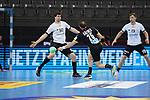 Kai Haefner (GER) mit einem Hueftwurf bei der Euro-Qualifikation im Handball, Deutschland - Estland.<br /> <br /> Foto © PIX-Sportfotos *** Foto ist honorarpflichtig! *** Auf Anfrage in hoeherer Qualitaet/Aufloesung. Belegexemplar erbeten. Veroeffentlichung ausschliesslich fuer journalistisch-publizistische Zwecke. For editorial use only.