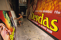 INDIA, Mumbai, Bombay, Bollywood cinema, Balkrishna Arts, hand painted movie poster, film poster Devdas and Sholay