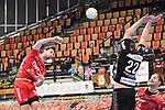 Ludwigshafens Dietrich, Gunnar (Nr.8) beim Wurf beim Spiel in der Handball Bundesliga, Die Eulen Ludwigshafen - Tusem Essen.<br /> <br /> Foto © PIX-Sportfotos *** Foto ist honorarpflichtig! *** Auf Anfrage in hoeherer Qualitaet/Aufloesung. Belegexemplar erbeten. Veroeffentlichung ausschliesslich fuer journalistisch-publizistische Zwecke. For editorial use only.
