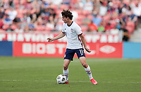 SANDY, UT - JUNE 10: Brenden Aaronson #11 of the United States moves with the ball during a game between Costa Rica and USMNT at Rio Tinto Stadium on June 10, 2021 in Sandy, Utah.