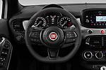 Car pictures of steering wheel view of a 2020 Fiat 500X Sport 5 Door SUV Steering Wheel