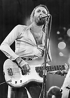 Bee Gee Maurice Gibb; with brothers Barry and Robin; last night gave a concert to 14;000 people in Maple Leaf Gardens, Toronto.<br /> <br />  Griffin, Doug<br /> Picture, 1975,
