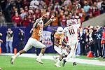 Arkansas Razorbacks quarterback Brandon Allen (10) in action during the Advocare V100 Texas Bowl game between the Arkansas Razorbacks and the Texas Longhorns at the NRG Stadium in Houston, Texas. Arkansas defeats Texas 31 to 7.