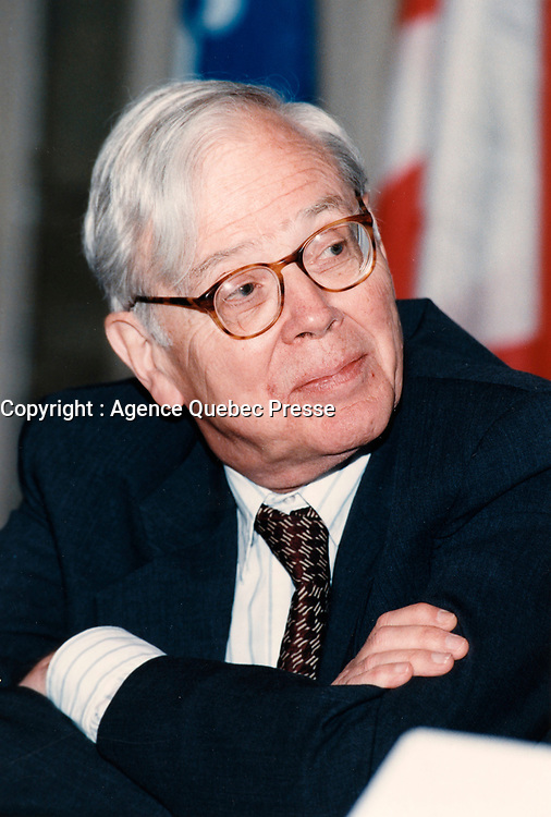 Montreal (Qc) CANADA - File Photo - John Newhouse, mai 1998<br /> <br /> PHOTO :  Agence Quebec Presse