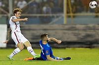 SAN SALVADOR, EL SALVADOR - SEPTEMBER 2: Josh Sargent #9 of the United States shoots the ball during a game between El Salvador and USMNT at Estadio Cuscatlán on September 2, 2021 in San Salvador, El Salvador.